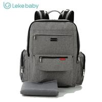 Lekebaby Extra Large Nappy Changing Bag Backpack with Nappy Changing Pad Can be used as Laptop Backpack ,Grey