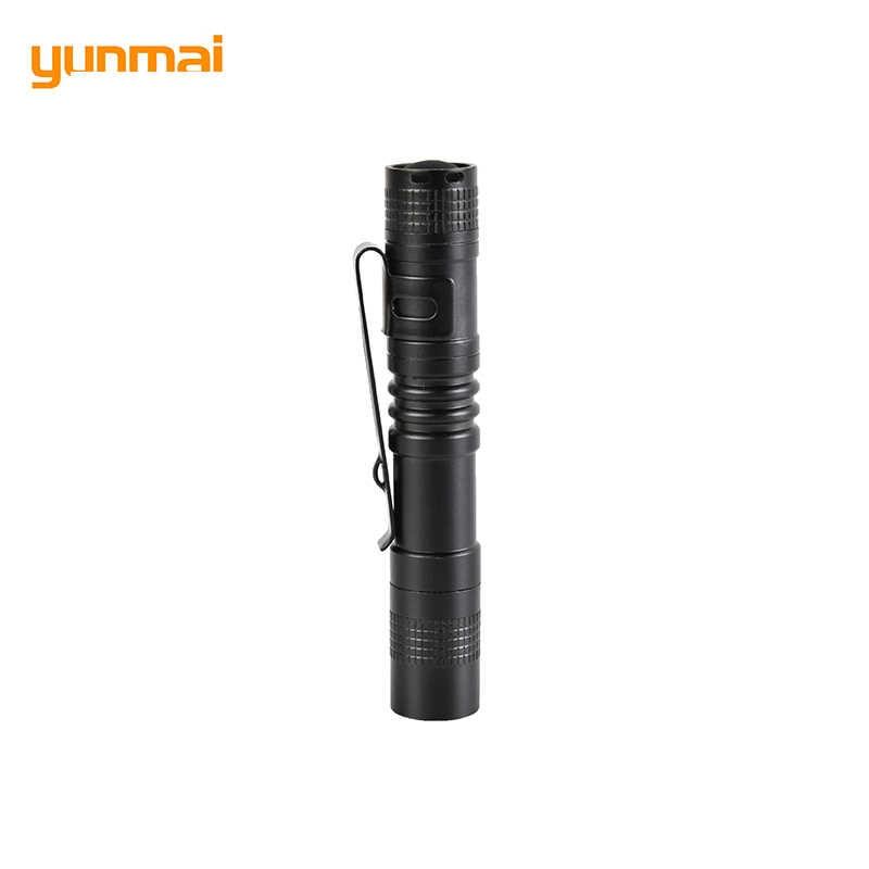 Małe latarka w kształcie długopisu z klipsem kieszeni przenośne oświetlenie latarki ze stopu aluminium ze stopu aluminium wykwintne Led Mini latarka, odporny na działanie wody latarnia