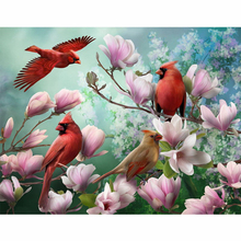 Birds and flowers diamond Embroidery diy painting mosaic diamant 3d cross stitch pictures H581