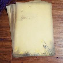 8 шт Вечерние бумажные наборы в винтажном стиле с буквами лотоса, канцелярские товары, школьные офисные бумажные блокноты для письма, блокноты для рисования, блокноты для эскизов, канцелярские принадлежности