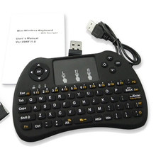 Wholesale prices H9 Rainbow Blacklight Keyboard 2.4 Wireless Keyboard Adjustable Backlit For Windows XP 7 Android TV Box Raspberry Pi 3