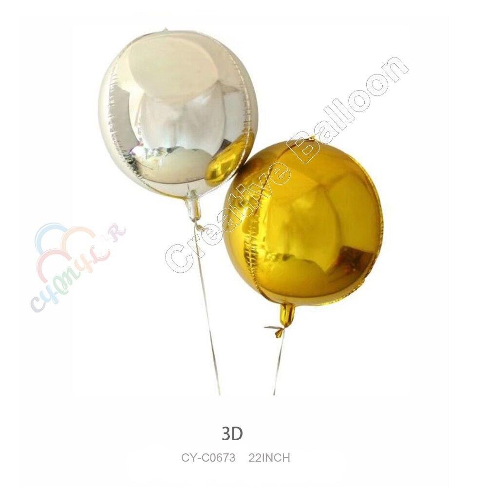 Cymylar 22inch 40pcs/lot 3D Balloon Happy Birthday Party Supplies Helium Aluminium Foil Balloons Toys For Kids