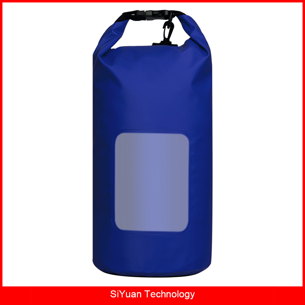Outdoor Durable PVC 20L Waterproof Dry Bag Sack with Clear Window Adjustable Shoulder Strap for Boating Hiking and Camping косметичка outdoor research lightweight dry sack 15