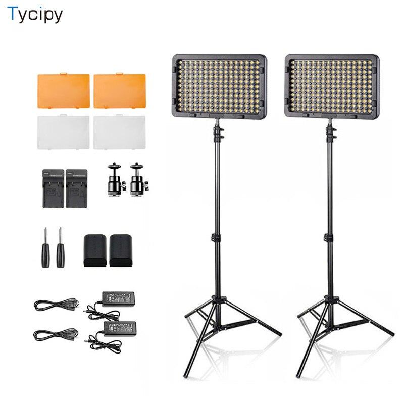 Tycipy Caméra LED Photo Studio Éclairage Photographique Selfie Trépied Lumière pour Vidéo Chaud/Froid Bi-couleur Batterie 1 Set/2 Ensembles-4 Ensembles