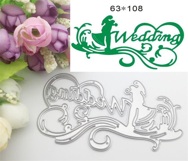letter design wedding metal decorative paper cutting dies template for diy scrapbooking photo album