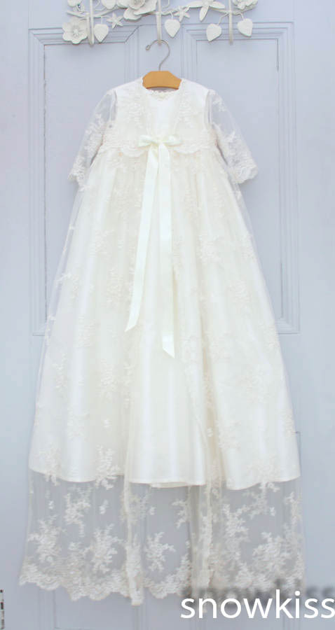 4b98ad1cf Two Pieces Long Sleeves Baby Girls Boys Blessing Dresses With Bonnet  Heirloom Dedication Christening gowns vestido de baptizado-in Dresses from  Mother ...