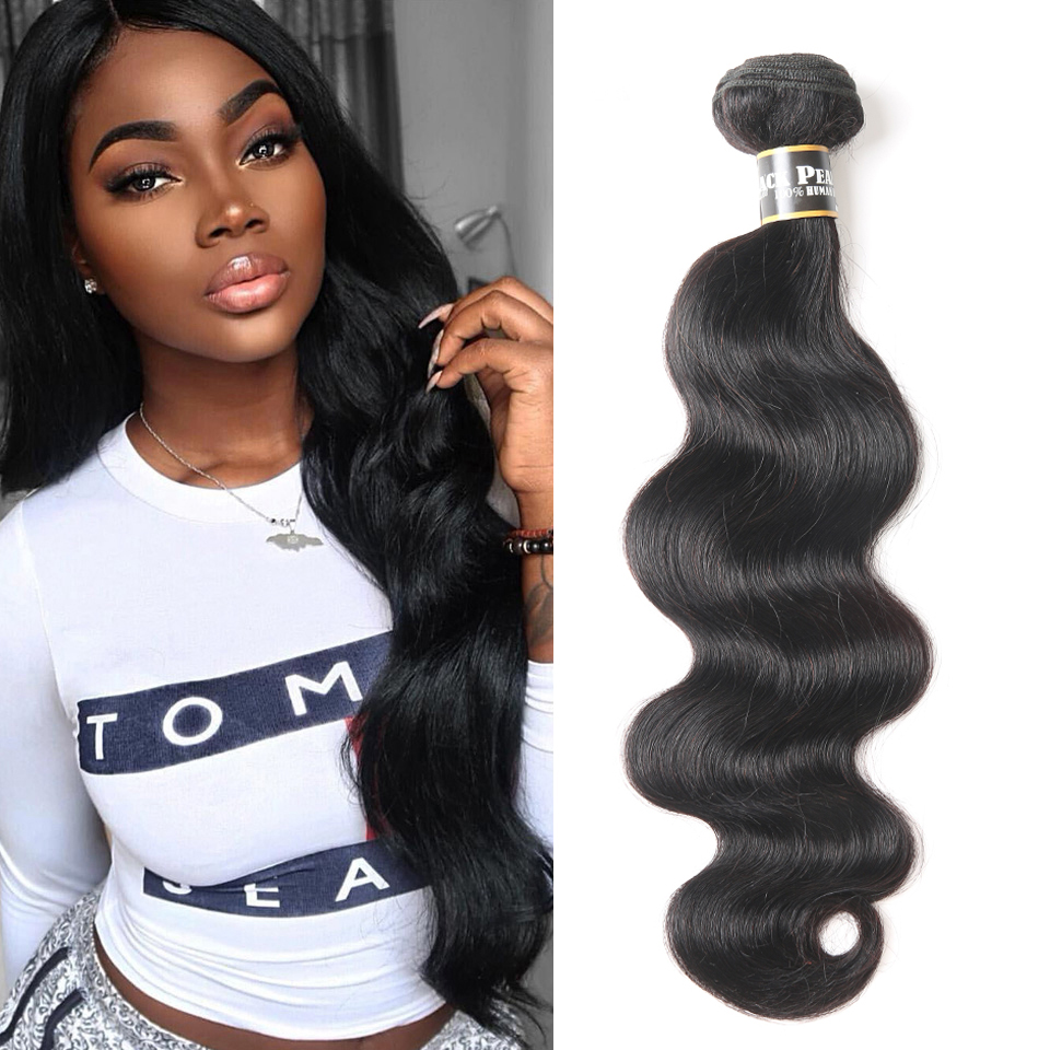 Black Pearl Pre-colored Human Hair Bundles Remy Hair Extension 1 /3 Bundle Body Wave Hair Weaving 100g Human Hair Weaves