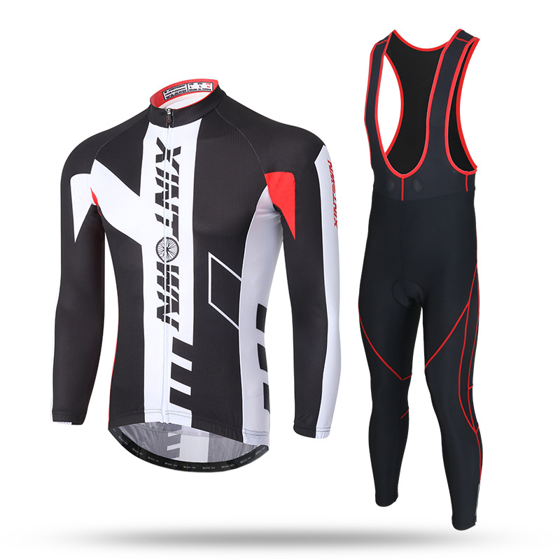 New Winter mtb Cycling Sets Cycling Clothing Long-Sleeved Strap Bicycle Jerseys Bike Sportswear ropa ciclismo цена