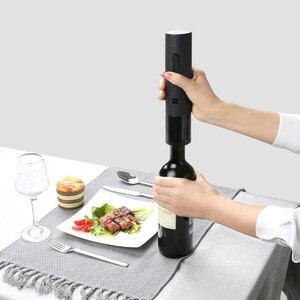 Image 3 - Youpin Huohou otomatik kırmızı şarap şişesi elektrikli tirbuşon 6S açacağı folyo kesici Cork Out alet setleri ev düğün parti için