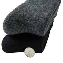 Men winter keep warm wool socks cotton cashmere solid color business couple thick party casual towel fashion sox