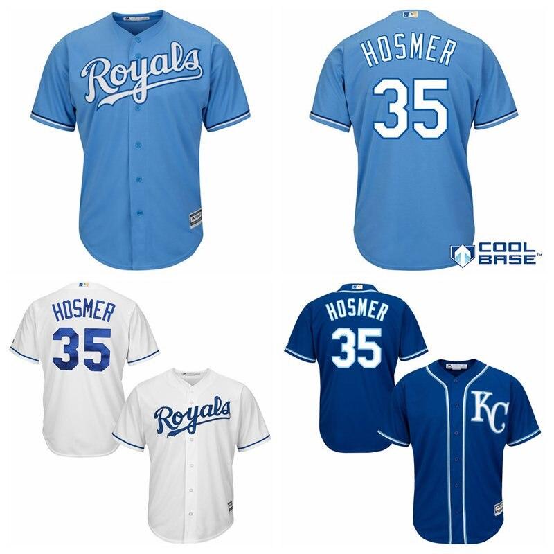 4fb6c56b97e ... Hombres Kansas City Royals Eric Hosmer Majestuoso Alternativo Bajo  Fresco Jersey Jugador(China) ...