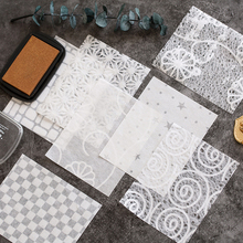 Decorative Paper Scrapbooking-Material Lace Backgckground-Paper Hollow Yarn-Series Idle