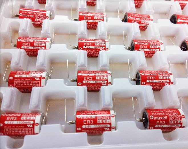 5pc iconstel for MAXELL ER3 ER3S <font><b>1/2AA</b></font> 3.6V 1100MAH Chloride <font><b>battery</b></font> with Horned Japan original PLC industrial <font><b>battery</b></font> image