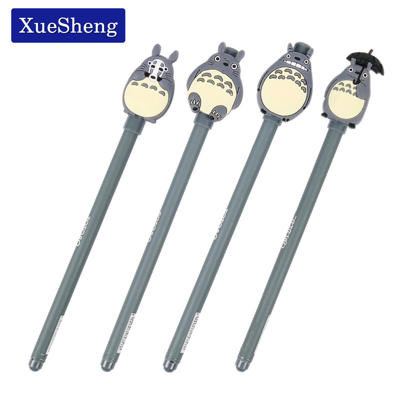 3 PCS Novelty Cute My Neighbor Totoro Gel Ink Pen Signature Pen Escolar School Office Supply Promotional Gift недорого