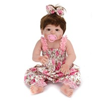 22inch Reborn Baby Doll Silicone Handmade Lifelike Girl Play House Toy