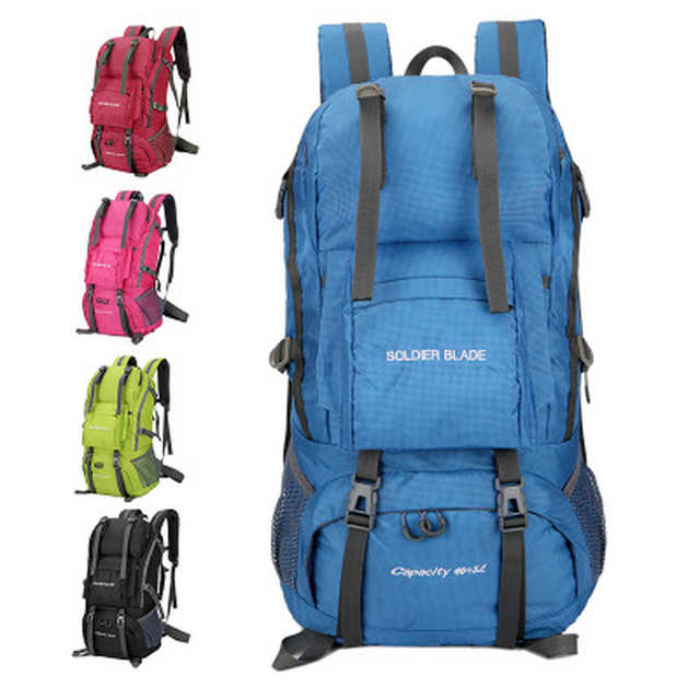 50L Internal Frame Travel Climbing Bag Waterproof Polyester Material ...