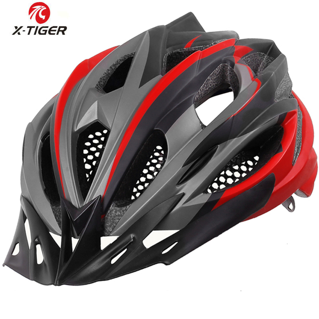 X-TIGER Ultralight Cycling Helmet With Hat EPS+PC Cover MTB Bike Helmet Integrally-mold Cycling Mountain Bicycle Helmet