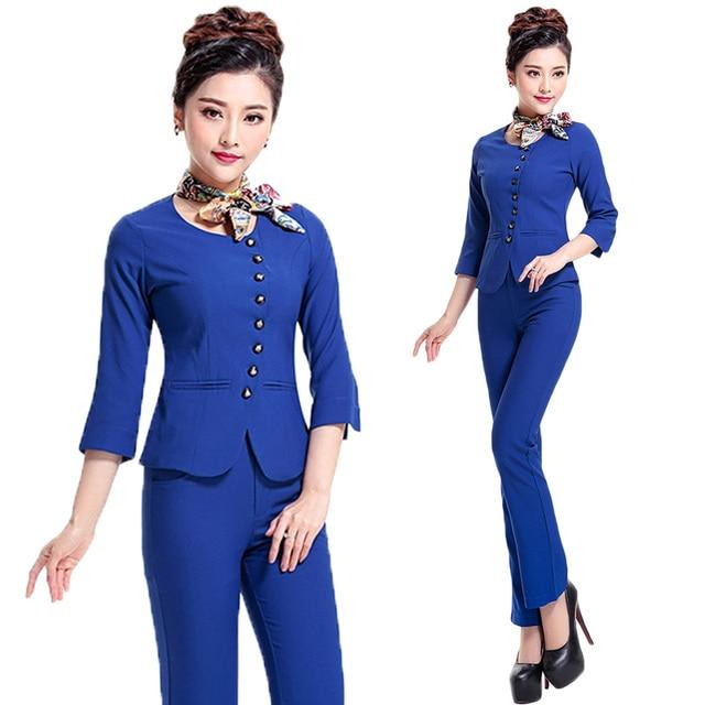 Free shipping new design elegant women work suit uniform for Uniform for spa receptionist