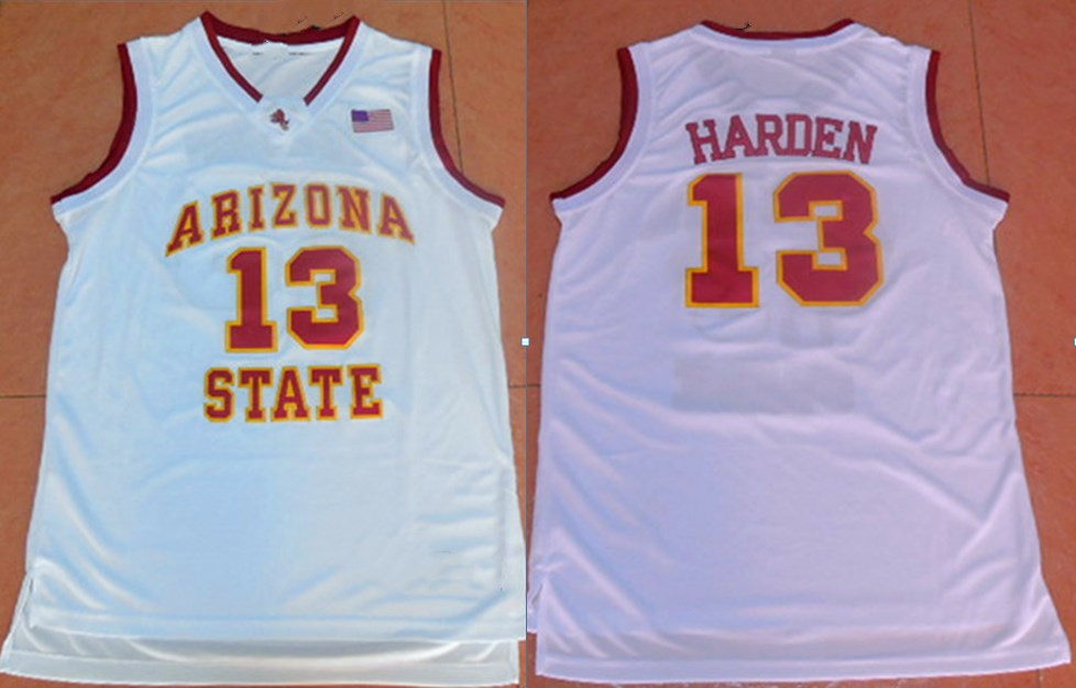 9fd34d05f34 13 jersey blacksportsonline bdcc0 8fe56; closeout 13 james harden arizona  state throwback retro college basketball jersey stitched any number new  material