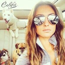 CALIFIT Classic Pilot Sunglasses Women Polarized Eyewear Men Designer Metal Glasses High Quality Female Shades UV400