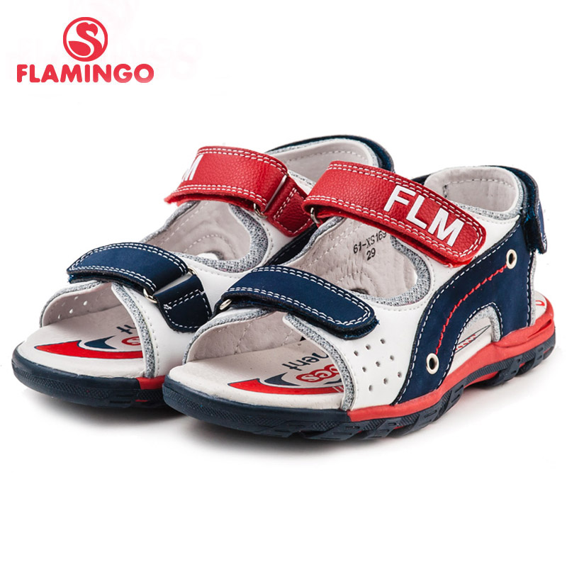 FLAMINGO famous brand 2016 New Arrival Spring & Summer Kids Fashion High Quality sandals for boys 61-XS168/61-XS169