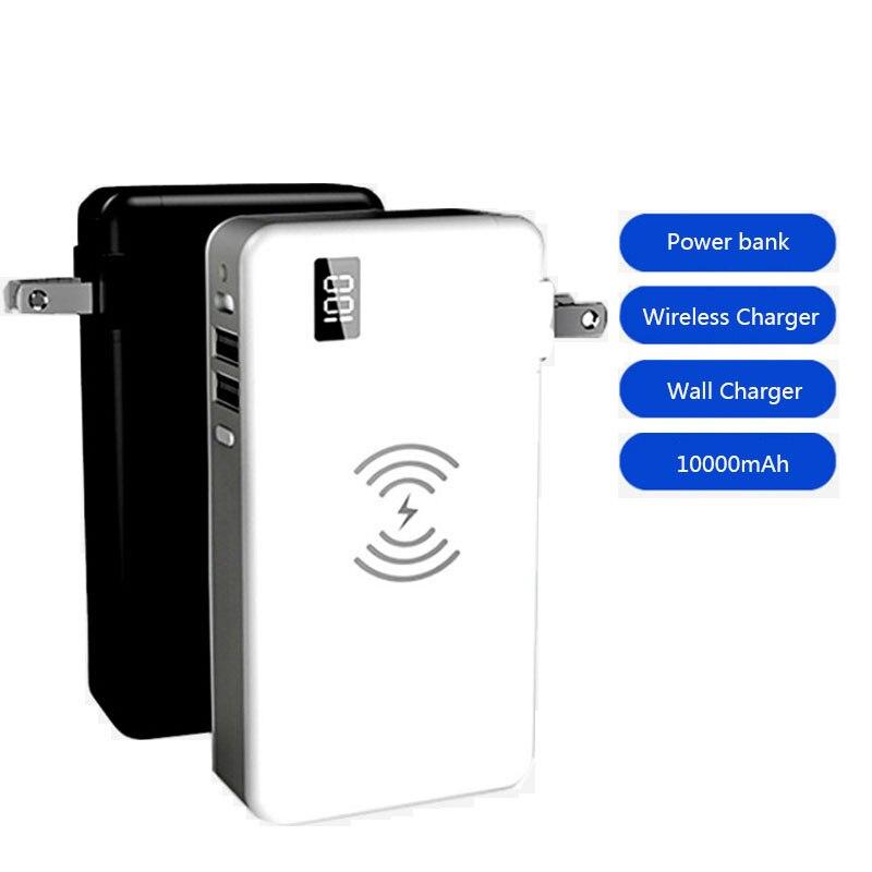 Chargeur sans fil qi 10000 mah batterie externe usb chargeur mural USB type-c 18 W PD chargeur rapide pour iphone charge rapide