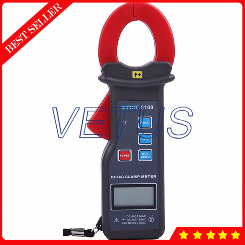 ETCR6100 0-1000A Digital Leakage current meter with 99 datas storage AC DC Clamp Meter Price цена
