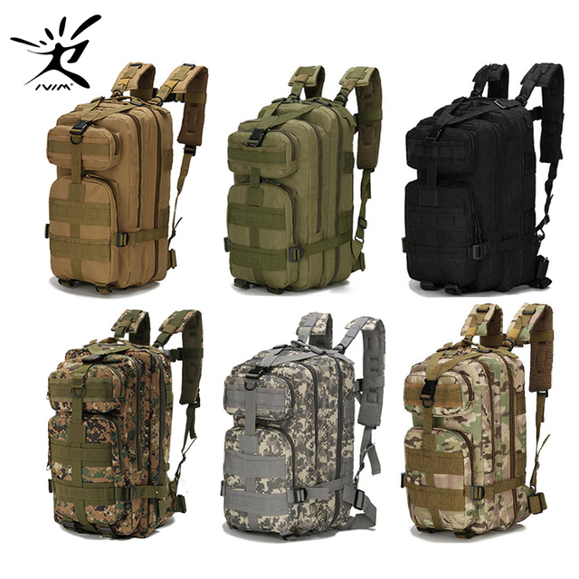 8e031416d097 1000D Nylon Tactical Backpack Military Backpack Waterproof Army Rucksack  Outdoor Sports Camping Hiking Fishing Hunting 28L