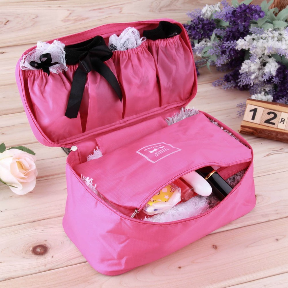 1Pc Waterproof Women Girl Lady Portable Travel Bra Underwear Lingerie Organizer Bag Cosmetic Makeup Toiletry Wash Storage case