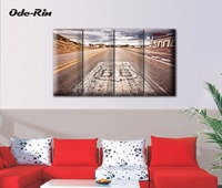 Highway 66 American Painting Frameless Quadruple The Sitting Room The Bedroom Adornment Picture Modern Simple
