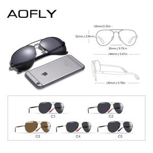 Image 5 - AOFLY BRAND DESIGN Classic Polarized Sunglasses Men Women Driving Pilot Frame Sun Glasses Male Goggle UV400 Gafas De Sol AF8186