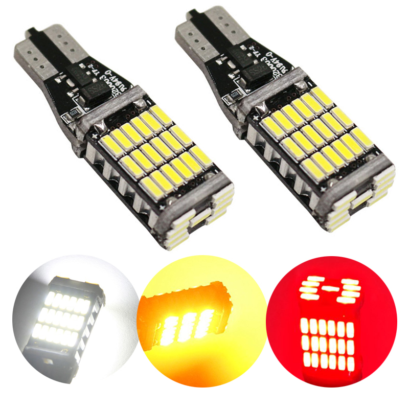 2X High Power T15 Canbus 45 SMD 4014 LED T10 360MA W16W White non - Car Lights - Photo 1