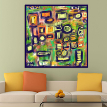 Wall Art Colorful Circle Abstract Oil Painting on Canvas Picture for Living Room Posters And Paintings frameless