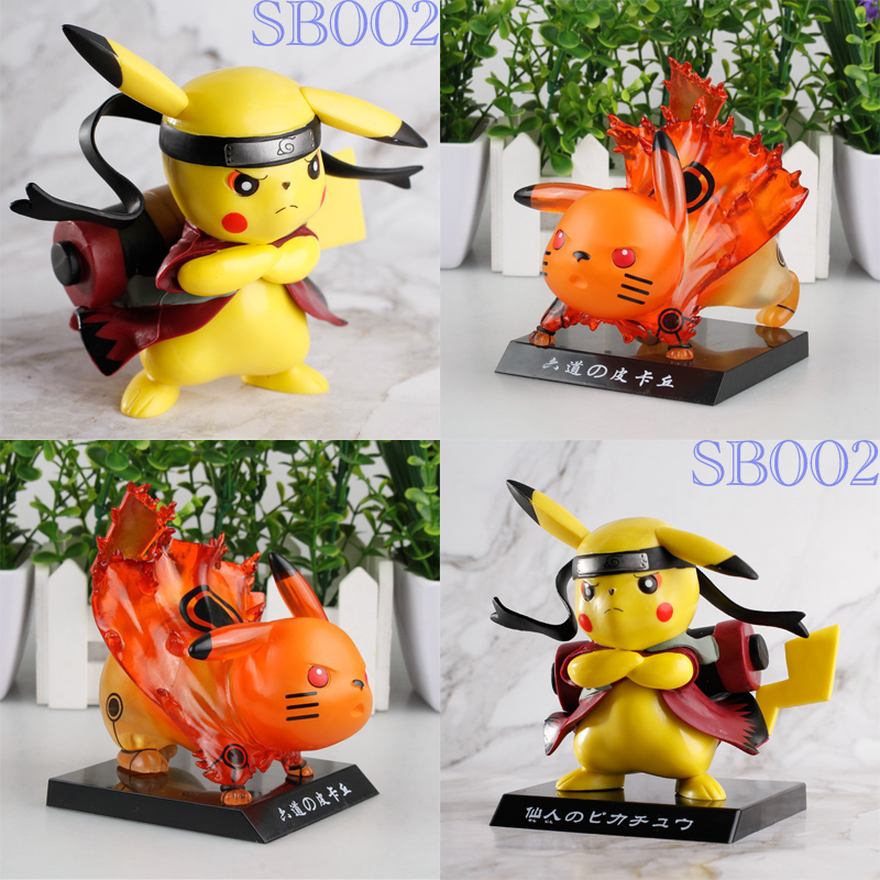 2019 Pikachu cosplay Naruto Action Figure Collectible Model Toys the anime action naruto pop toys for