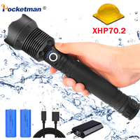 60000ML xhp70.2/xhp50 led flashlight usb charging lamp zoom Shock Resistant Self defense Outdoor powerful led torch for camping
