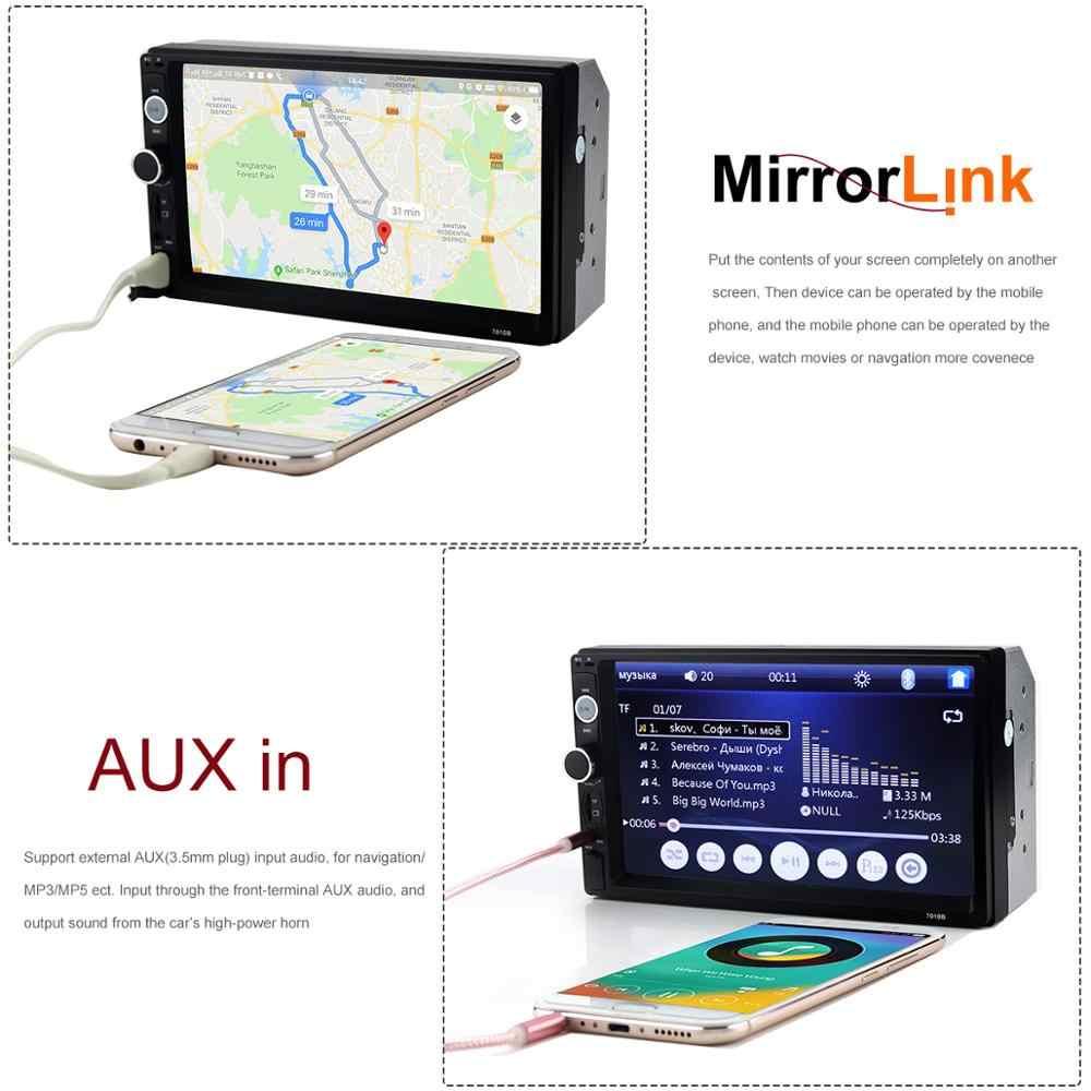 """カーマルチメディアプレーヤー 7010b オートラジオカー 2 Din Autoradio 7 """"Hd タッチスクリーン 2din カーオーディオカーステレオ mp5 Bluetooth 12 v カメラ"""