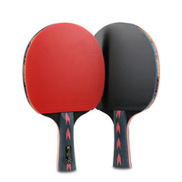 One Pair Professional 5 stars Carbon Table Tennis Bat Racket Handle Ping Pong Padel Racket Pimples For Training Competition