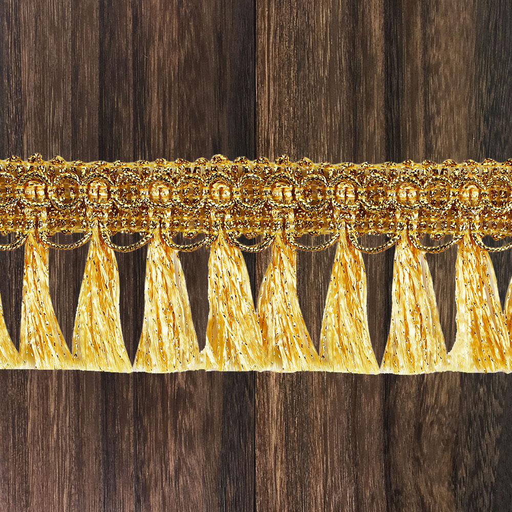 10y Braided Fringe Tassel Gold Silver Lace Ribbon Trim Band Trimming DIY For Clothes Bag Curtain Sewing Accessories T2729