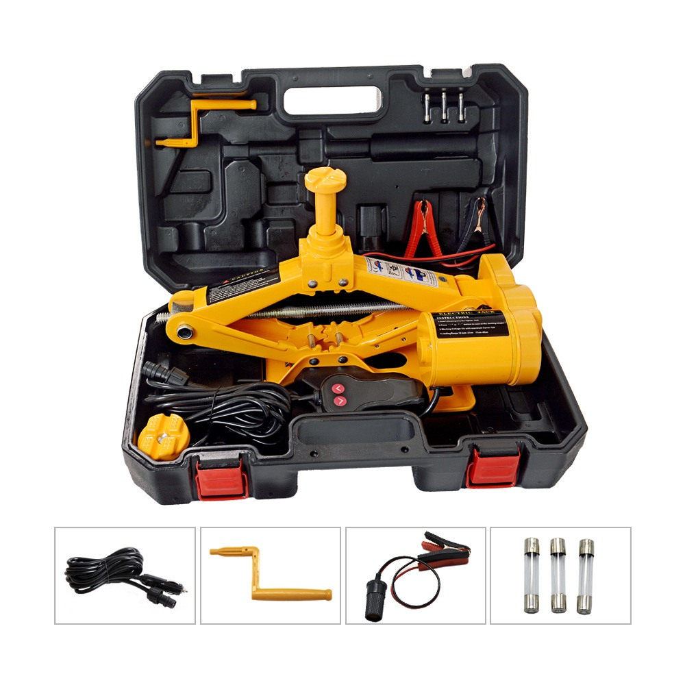 12V Car Electric Jacks 170-420mm With LED Floor Jack Set Tire Replacing Repair Tools Kit  Auto Lifting Repair Tools Kit
