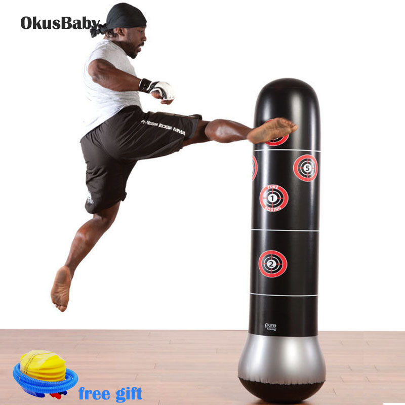 Professional Indoor Outdoor Inflatable Boxing Column Toy For Adult Kids Training Tool Free Pump Kicking Punch Bag Not Fall Down