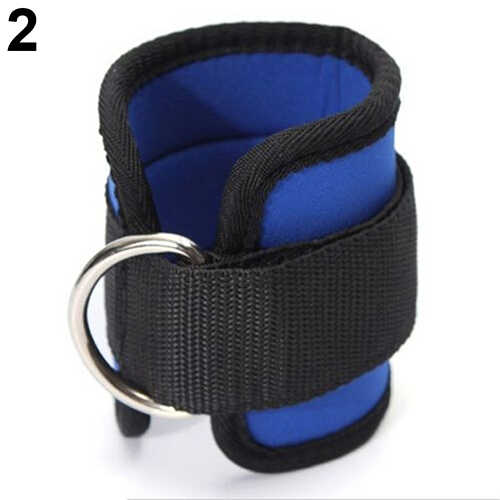 1pc Strap Gym Fitnesss Weight Lifting Ankle D-Ring Pulley Cable Attachment YU
