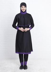Image 2 - Новинка для хиджаба женский купальный костюм с длинным полным покрытием Burkini Мусульманский купальник купальный костюм женская мусульманская одежда для купания скромная пляжная одежда для купания