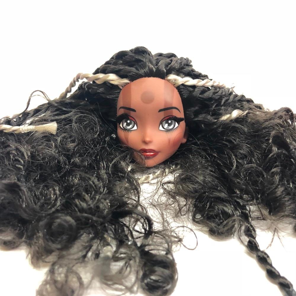 New Fashion Doll Head with Black Brown Hair DIY Accessories For big Big eyes head Doll monster Doll girls цена
