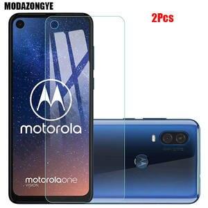 Image 1 - 2 шт., Защита экрана для Motorola One Action, закаленное стекло, Motorola Moto One Action OneAction, защитное стекло, пленка 6,3 дюйма