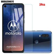 2 Pcs Protezione Dello Schermo Per Motorola Una Sola Azione Vetro Temperato Motorola moto Una Sola Azione OneAction Vetro Pellicola Protettiva da 6.3 pollici