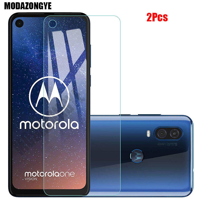 2 Pcs Screen Protector For Motorola One Action Tempered Glass Motorola Moto One Action OneAction Glass Protective Film 6.3 Inch