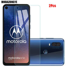 2 Pcs Screen Protector สำหรับ Motorola One Action กระจกนิรภัย Motorola Moto One Action OneAction แก้วป้องกันฟิล์ม 6.3 นิ้ว