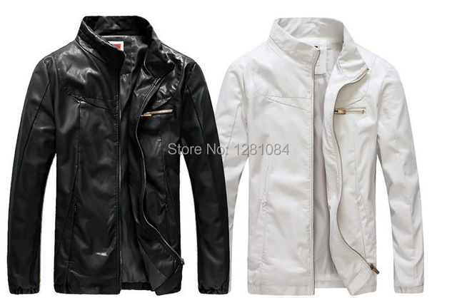 6ff8dc5863a6 2016 mens leather jackets and coats Motorcycle leather jacket men plus size  M-5XL White