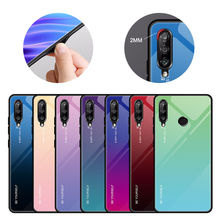 Gradient Painted Tempered Glass Back Phone Cover Case For Huawei Honor 10i / 20i Enjoy 9S P Smart Plus 2019