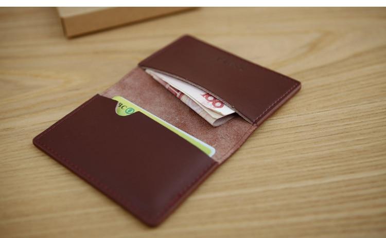 LANSPACE мужской кожаный держатель для карт брендовый маленький чехол для кредитных карт модные держатели для карт